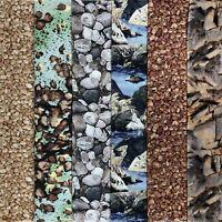 Rock Landscape Fat Quarter Bundle Pebbles Rocks Stones Quilt Fabric 6 Pieces