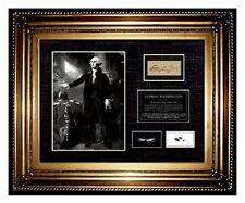 President GEORGE WASHINGTON HAIR Lock Signed COA letter photo US USA memorabilia
