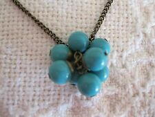 Bead Necklace Saq Blue Cluster