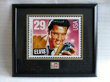 Elvis Presley Framed Stamp Print with Original Us Stamp - New