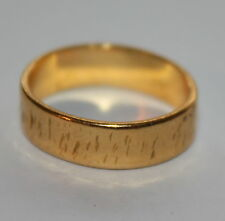 VINTAGE 5mm WIDE 22ct YELLOW GOLD BAND WEDDING RING SIZE L