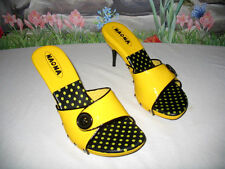 New NANA Yellow Patent Leather Dress Sandals 7.5