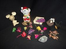Vintage Mouse Collection - Lot of (20) - Leather, Woven, Ceramic, Change Purse!