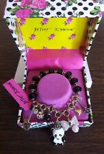 Betsey Johnson Panda Qween Charm And Stretch Bracelet