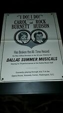 Carol Burnett Rock Hudson I Do! I Do! Rare Original Promo Poster Ad Framed!