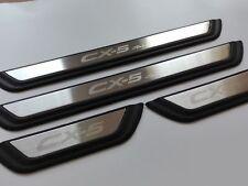 4pc Plastic Door Sill Trim Cover Scuff Plates for Mazda CX-5 Sport 2017 2018 CX5
