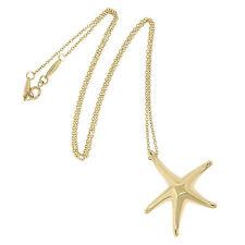 Tiffany & Co. Elsa Peretti 18K Yellow Gold Star Fish Pendant Chain Necklace