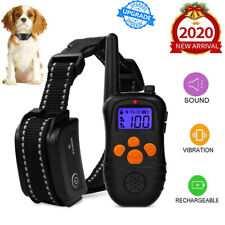 Dog Shock Collar 300m Remote Waterproof Electric Small Large Dog Training Collar
