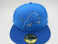 Detroit Lions Blue New Era NFL 2016 Sideline 59FIFTY Fitted Hat Cap
