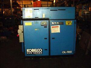 60 Hp KOBELCO OIL-FREE 2 STAGE AIR COMPRESSOR KNW AO-B/H