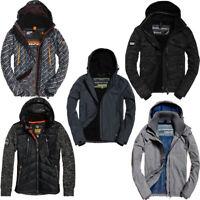 Superdry Mens Coat Jackets Hoodies Technical Windcheater Full Zip Jacket Hoody