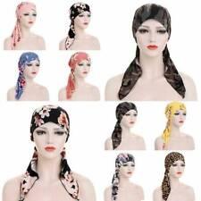 Women Muslim Stretch Turban Hat Chemo Cap Hair Loss Head Scarf Wrap Hijab 1PC