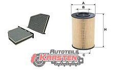 Set S: Innenraumfilter+Ölfilter Inspektionspaket AUDI SEAT SKODA VW