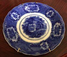 Stunning 1830-34William Ridgway Flow Blue Plate - Oriental Pattern