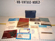 Volvo 1989 240 Owners's OEM 1 set of 13 Manuals / Papers Volvo Blue OEM 1 Pouch