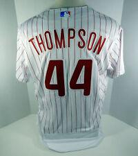 2018 Philadelphia Phillies Jake Thompson #44 Game Issued White Jersey