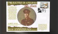 90th ANNIV OF GALLIPOLI ANZAC DAY COVER, ALBERT JACKA