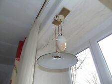 French antique counterbalance weight porcelain rise and fall pendant light shade