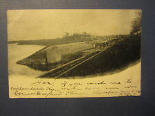 Old Vintage 1906 - CANAL LOCKS - Louisville KY. - POSTCARD - Kentucky