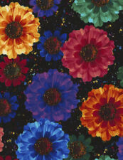 Flower Fabric,  Bright Flowers Radiance C 5131  fat 1/4s. 100% cotton.