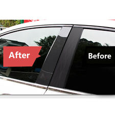 6x Carbon Fiber Pillar Posts For Honda Civic 2006 2011 Set Door Trim Cover Kit Fits 2006 Civic