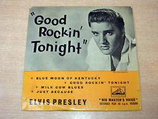 "ELVIS PRESLEY/good rockin 'cette nuit ep/1957 hmv 7"" Single"