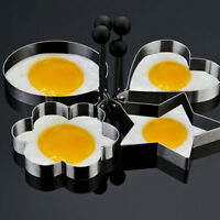 4 x Stainless Steel Frying Cooking Rings Perfect for Fried Eggs Omelette Mold.
