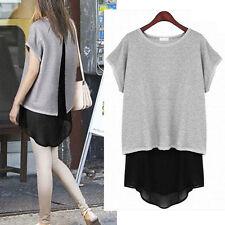 Chiffon Patternless Short/Mini Tunic Dresses for Women