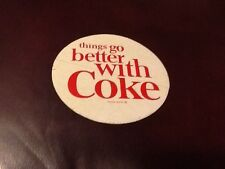 "Coca-Cola Decal "" things go better with Coke"" 1959's Rare Mint condition"
