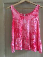 Free People Gypsy Junkies Libby Crop Top M/L Coral New Tie Dye