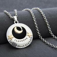 I Love You To The Moon and Back Mom Necklace & Pendant Birthday Christmas Gift