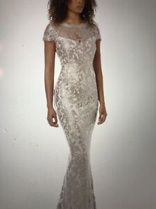 Montique Aubrey Embroidered Lace Gown Dress Size 12
