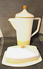 Buttercup Coffee Pot and Butter Dish Mint Japan Tru-Stone Dinnerware