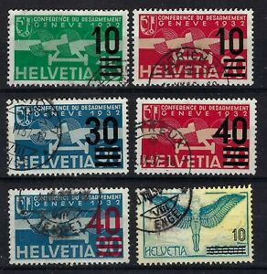 Switzerland 1935-38 Selection of Overprinted Airs Used CV £90