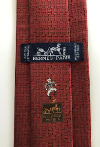 "ULTRA RARE Hermes Paris Tie Limited Edition ""H"" Design ""Top Hat Man"" Red Insane!"