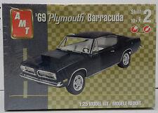 69 PLYMOUTH BARRACUDA CUDA 1969 SUPER STOCK MOPAR DRAG RACE HEART AMT MODEL KIT