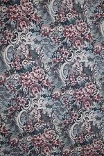 6 YDS ROMANTIC FLORAL TAPESTRY Upholstery Fabric 505 Victorian Sofa Blue Kimball