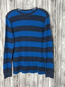Boy's Youth Arizona Blue & Gray Waffle Textured Long Sleeve Shirt Size XL