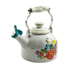 The Pioneer Woman Blooming Bouquet Whistling 2 Quart Tea Kettle