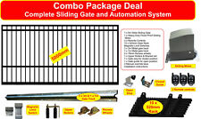 5m Combo Sliding Gate including flood proof motor, gate, track, rack, wheels