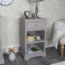 taupe peint table de chevet meuble chambre à coucher stockage vintage rustique