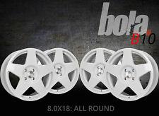 18 inch BOLA B10 4x100 ET30-45 8J WHITE alloy wheels  Alpina 3 SERIES B3 E30 Alp