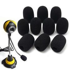 10X Microphone Headset Grill Windscreen Soft Sponge Foam Black Mic Case Cover KS