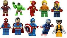 10 lego superheroes superman spiderman  VINYL WALL STICKERS 3 SIZES A6 A5 A4