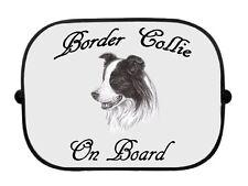 x1 Border Collie Printed Dog Sketch Design Car Window Sun Shade by paws2print
