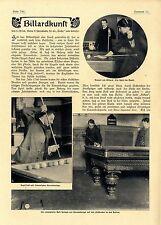 P. trône BILLARD-art carambolage le américain Brett coup de boule avec... 1907