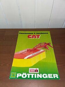 brochure prospekt PROSPECTUS FAUCHEUSE A TAMBOUR POTTINGER/CASE-IH tracteur-same