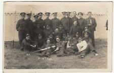 WW1 Group Portrait Of 5th Somerset Light Infantry Soldiers RP PPC, Sent By Harry