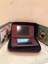 Burgandy NINTENDO DSI XL W/ Mario Kart Cookie Mama Scooby Doo Luigi Yoshi Bowser