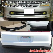 Mu-gen Style Front (PP) + OE Style Rear Bumper Lip (PU) Fit 98-00 Accord 2dr